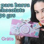 Mimo de páscoa | caixa para barra de chocolate 90g