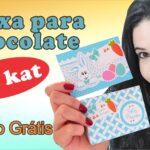Lembrancinha de páscoa: Caixa para KIT KAT | Arquivos Grátis