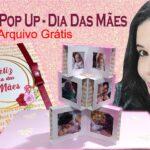 Presente dia das mães | Cartão popup com fotos | Arquivo grátis